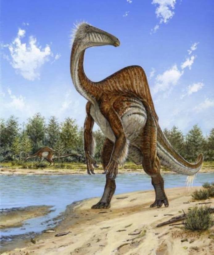 Странный горбатый динозавр из Монголии с утиным клювом