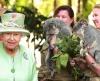 Английская Королева в Австралии навестила двух коал