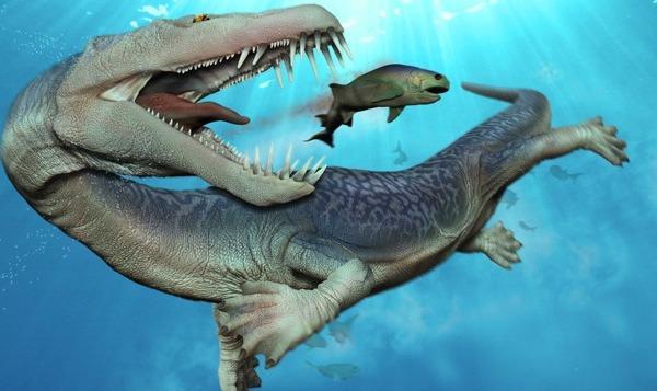 Нотозавры первыми из крупных рептилий начали осваивать моря и океаны